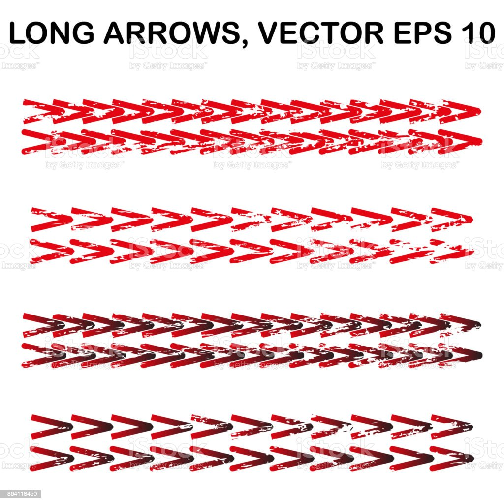 Set of vector long textured arrows royalty-free set of vector long textured arrows stock vector art & more images of abstract