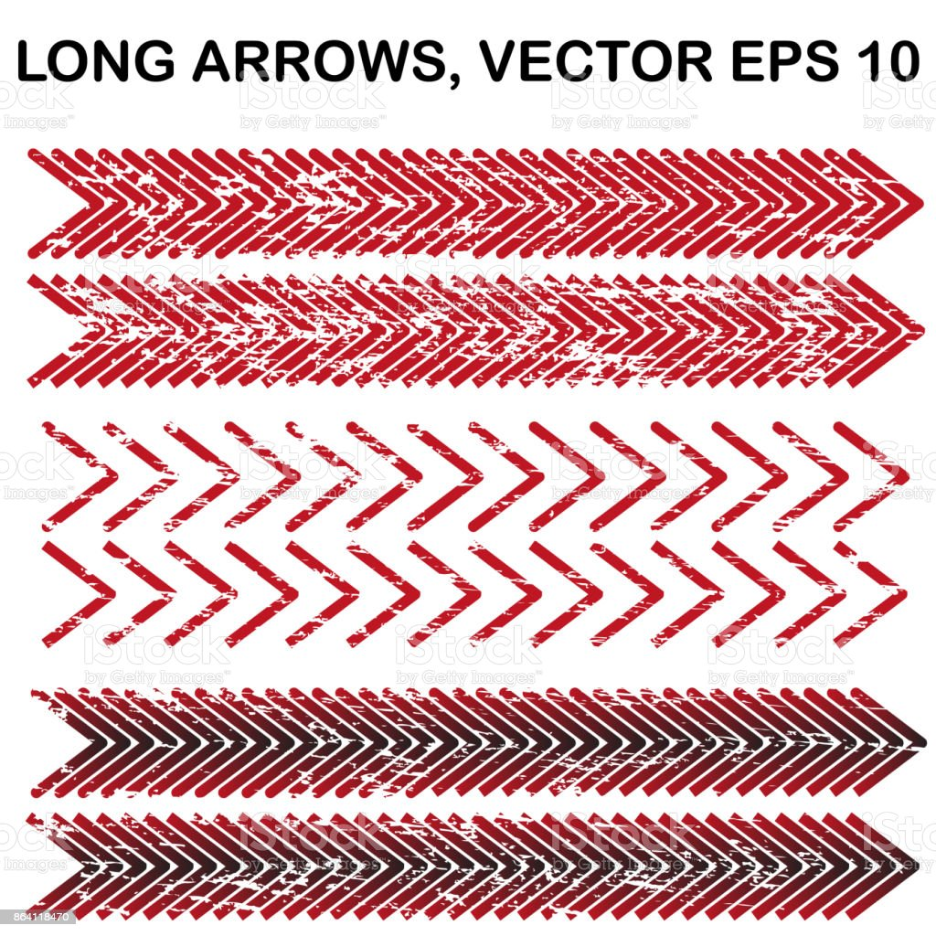 Set of vector long wide-angle textured arrows royalty-free set of vector long wideangle textured arrows stock vector art & more images of abstract