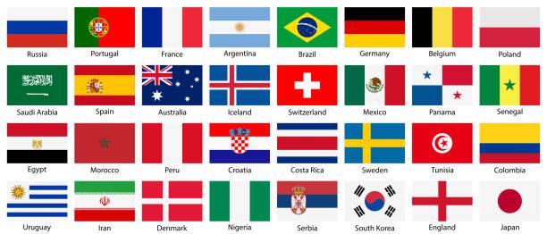 フラグ アイコンは、白い背景で隔離のベクトル国立のセット。 - メキシコの国旗点のイラスト素材/クリップアート素材/マンガ素材/アイコン素材