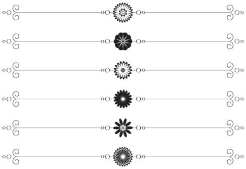 Set Of Vector Page Separators