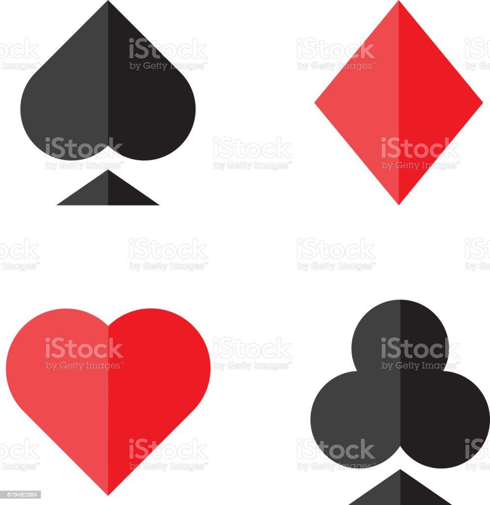 Set of vector playing card symbols stock vector art more images set of vector playing card symbols royalty free set of vector playing card symbols stock biocorpaavc