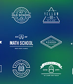 Set of Vector School or College Identity Elements can be used as icon or Icon in premium quality