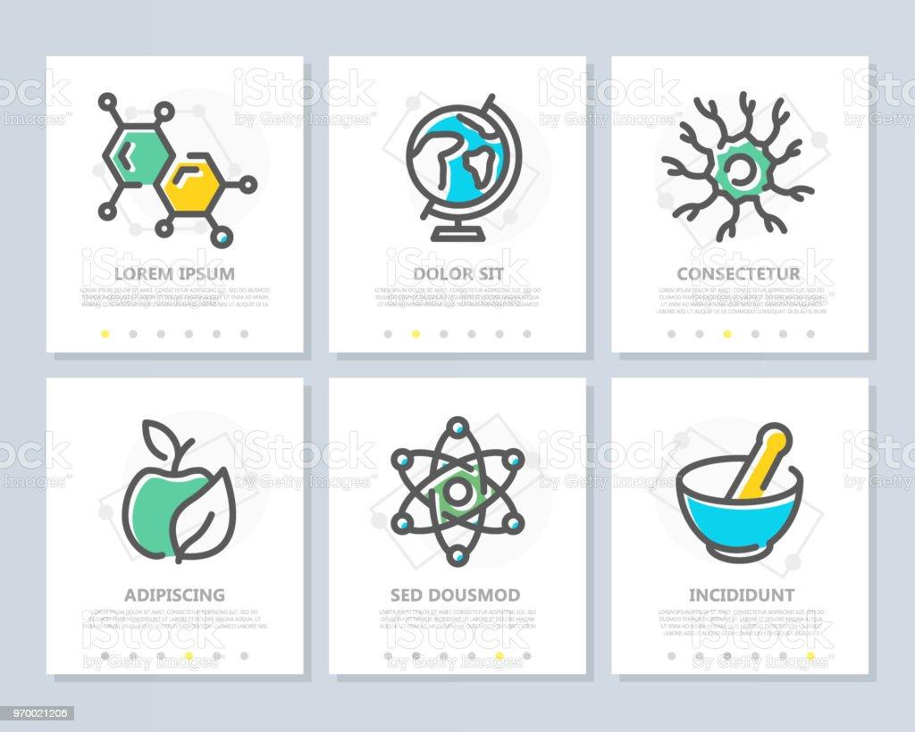 Ilustración de Conjunto De Vector De La Ciencia Y La Investigación ...