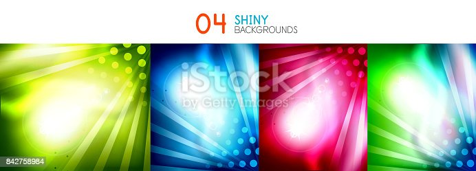 901409540istockphoto Set of vector shiny abstract backgrounds 842758984