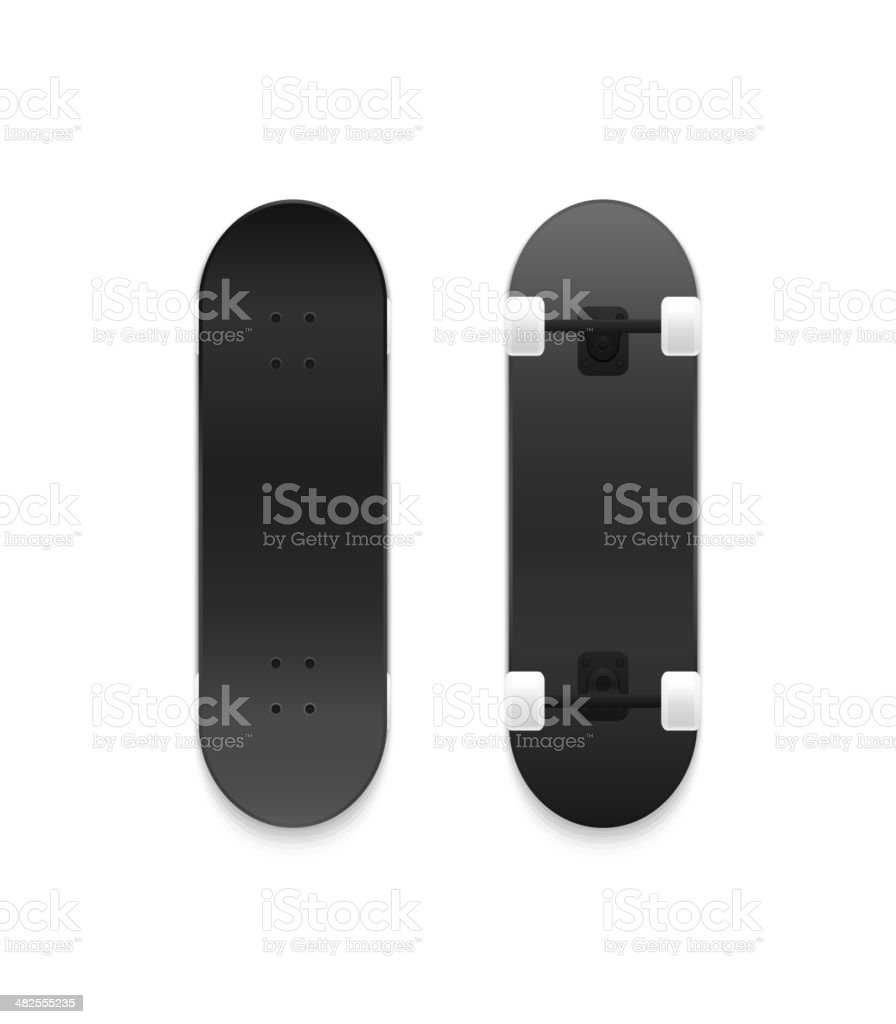 Set of vector skateboards vector art illustration