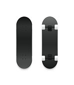 Set of vector skateboards