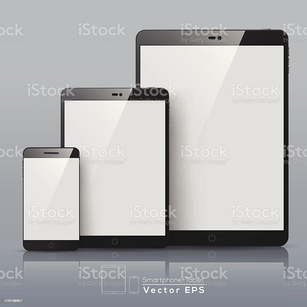 Set of Vector Smart phone and Tablet - Royalty-free Aanraken vectorkunst