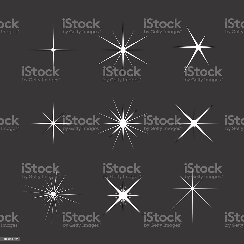 Set of Vector Sparkles Star vector art illustration