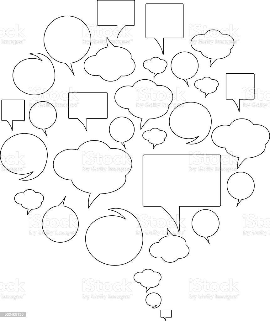 Set of vector speech vector art illustration