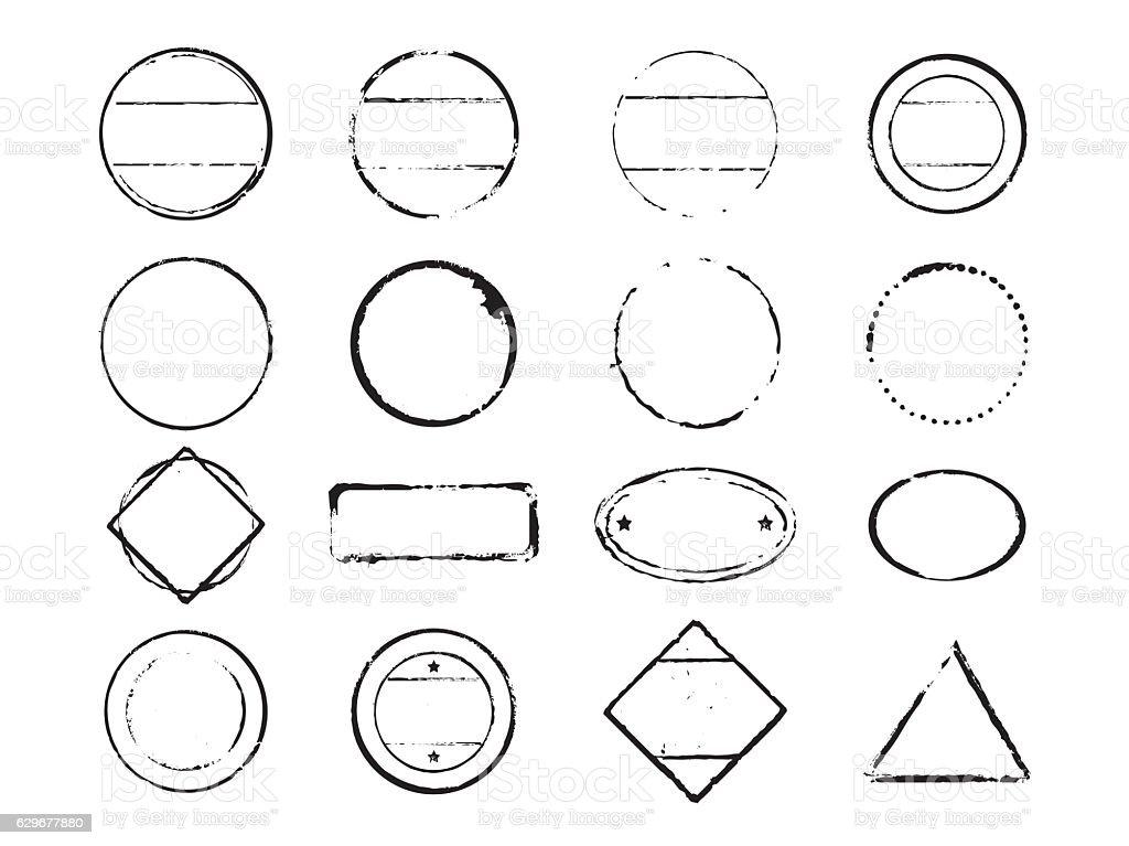 set of vector stamps - Illustration vectorielle