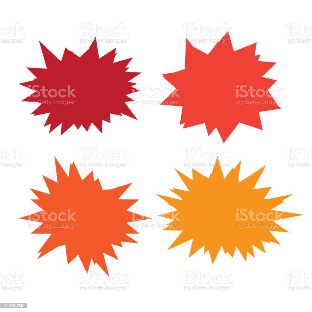 Set of vector starburst, sunburst badges. Starburst isolated icons set векторная иллюстрация