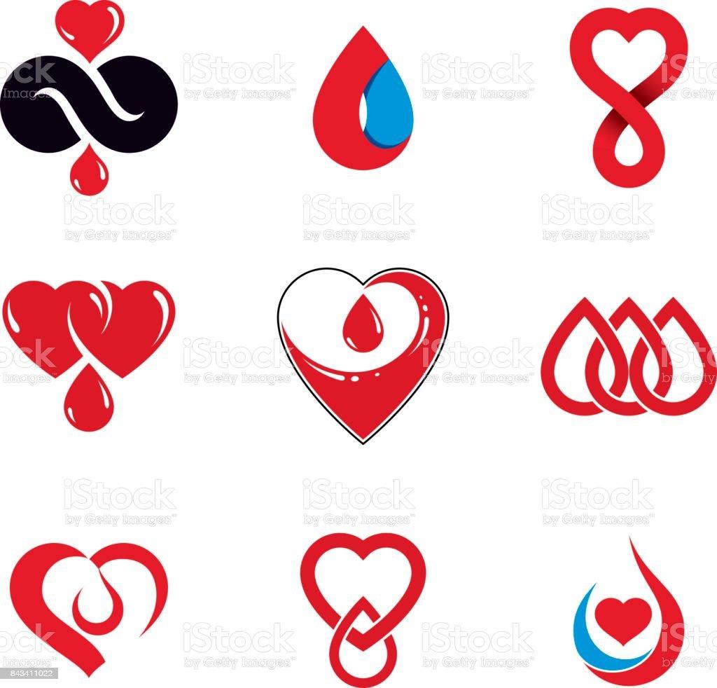 Organ donation symbol choice image symbol and sign ideas set of vector symbols created on blood donation theme blood set of vector symbols created on buycottarizona