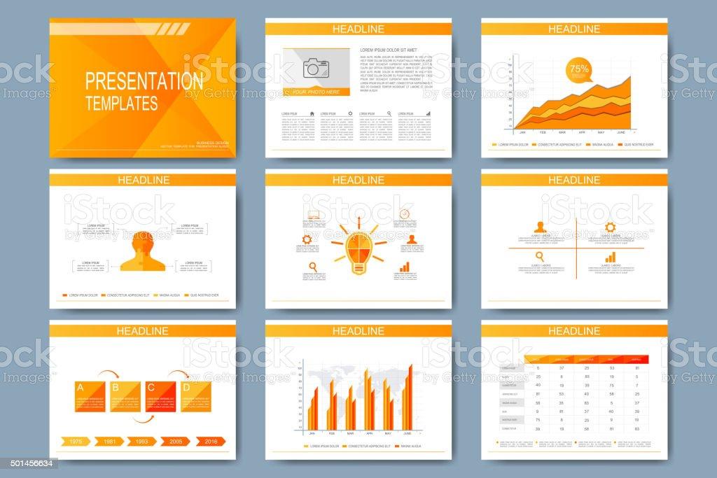 set of vector template for presentation slides modern design with royalty free set of