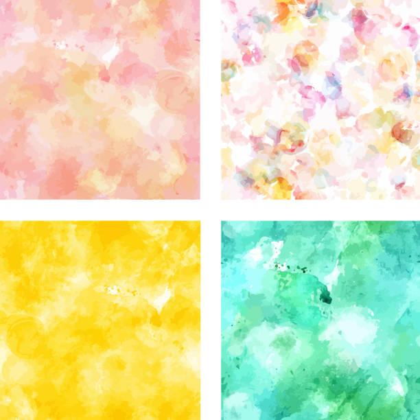 satz von vektor-texturen in pink, gelb und türkis - pastellgelb stock-grafiken, -clipart, -cartoons und -symbole