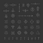 Set of vector trendy geometric icons.