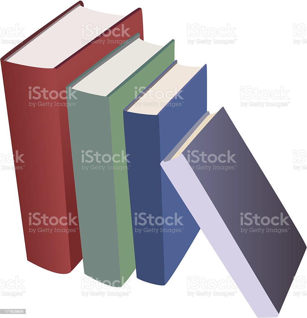 set of vector various books royalty-free stock vector art