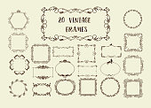 Set of Vector Vintage Decorative Elements for Invitations, Banners, Posters, Placards, Badges or symboltypes.