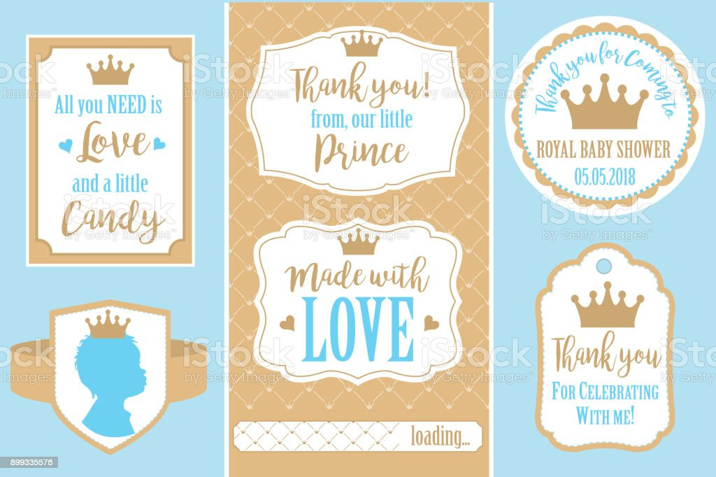 Set of vector vintage frames. Templates gift tags for royal party( wedding, baby shower, birthday) vector art illustration