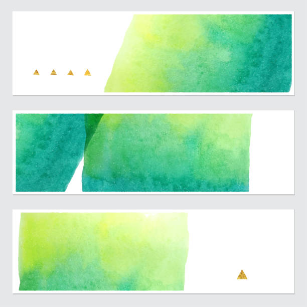 Set of vector watercolor backgrounds Vector. Set of colorful watercolor backgrounds for your design. watercolor background stock illustrations