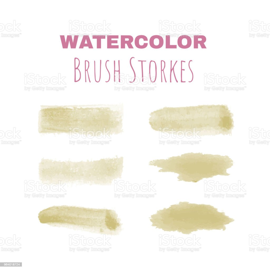 Set of vector watercolor brush strokes for digital drawing - Royalty-free Art stock vector