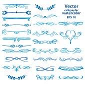 Set of vector watercolor frames