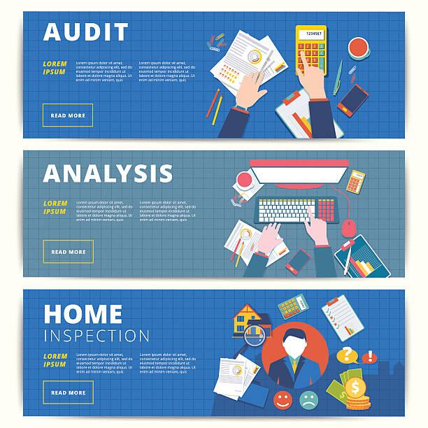 set of vector web banners design for business or finance - oberhaus stock-grafiken, -clipart, -cartoons und -symbole