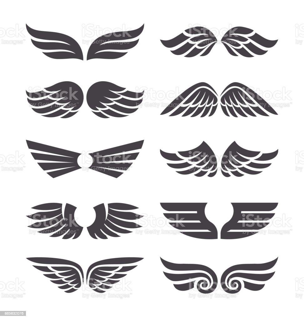 Conjunto de asas Vector - ilustração de arte em vetor