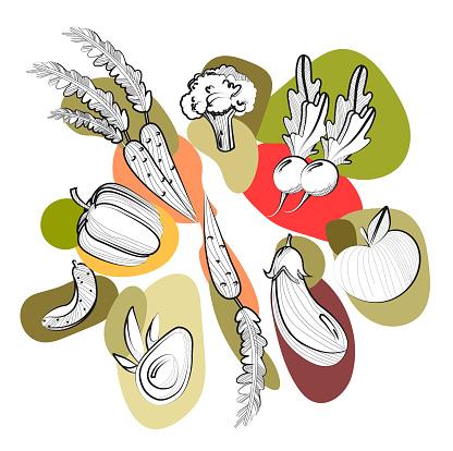 Set of vegatables