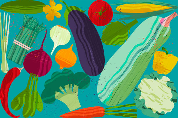 Set of vegetables. Vector illustration of healthy food design on the topic of vegetarianism and farm fair Set of vegetables. Vector illustration of healthy food design on the topic of vegetarianism and farm fair. Vegan menu farmer's market stock illustrations