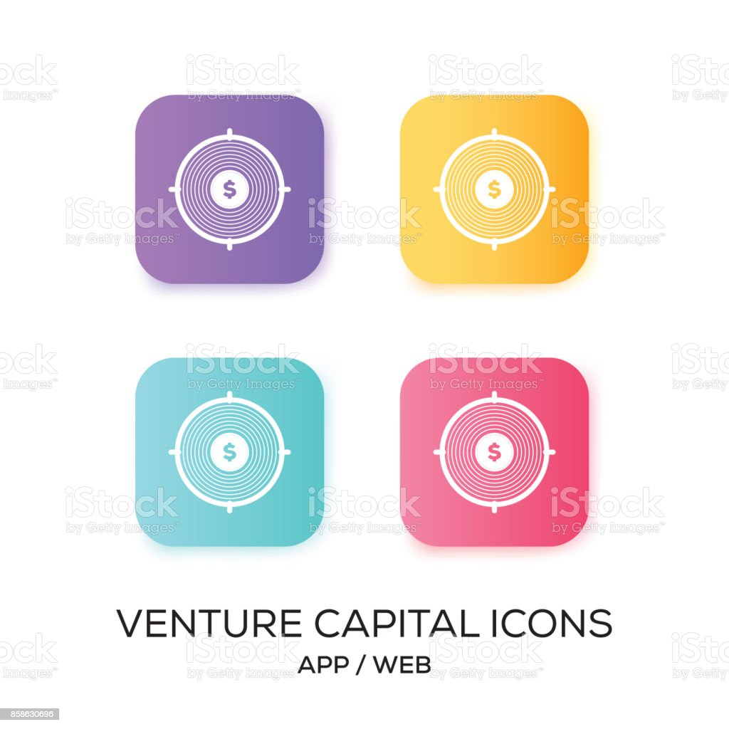 Set of Venture Capital App Icon vector art illustration