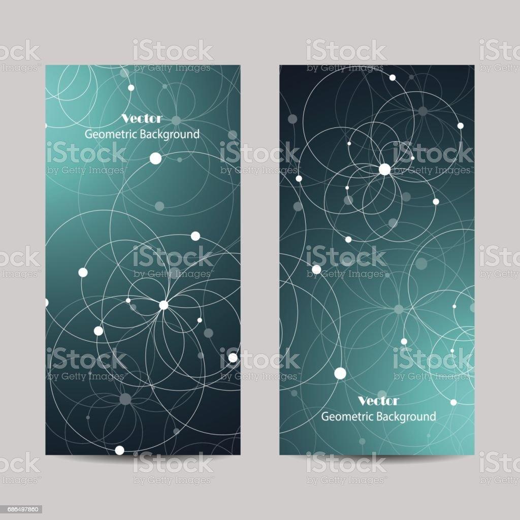 Set of vertical banners vector art illustration