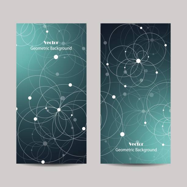 Set of vertical banners vector art illustration
