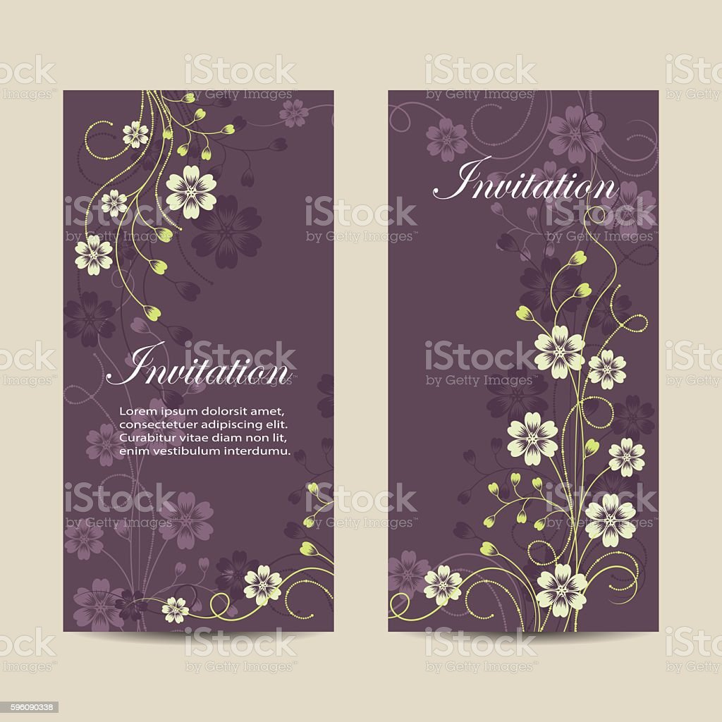 Set of vertical banners with flowers royalty-free set of vertical banners with flowers stock vector art & more images of abstract