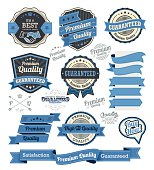 Set of vintage badges and design elements, vector illustration eps-10