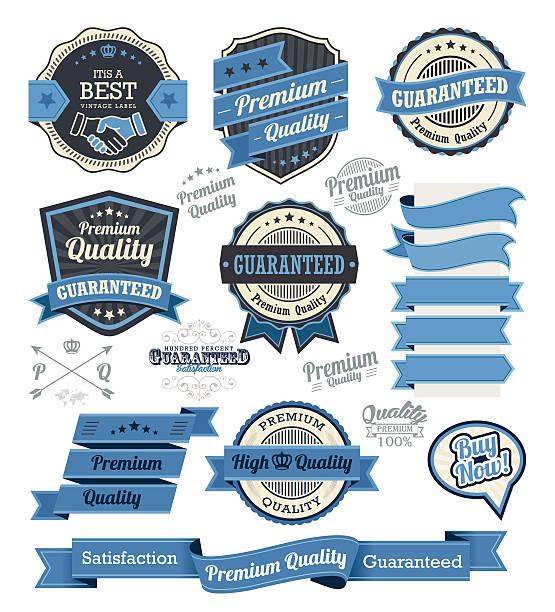 zestaw vintage odznaki i elementy projektu etykiety - pieczęć znaczek stock illustrations