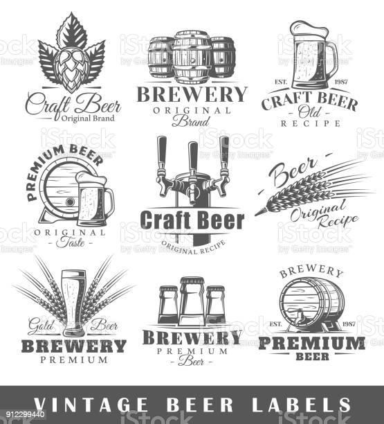 Set of vintage beer labels vector id912299440?b=1&k=6&m=912299440&s=612x612&h=sanl2nbbzuz7d7umfa24robc2q5umv jdasfoqfrvag=