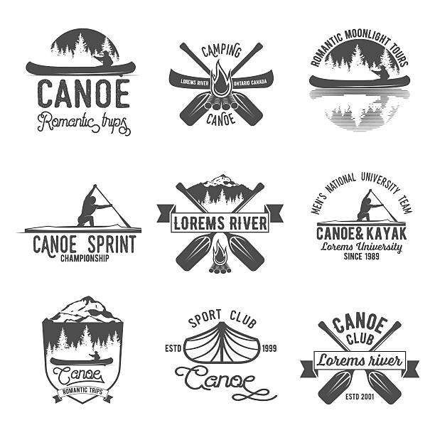 Best Canoe Illustrations Royalty Free Vector Graphics