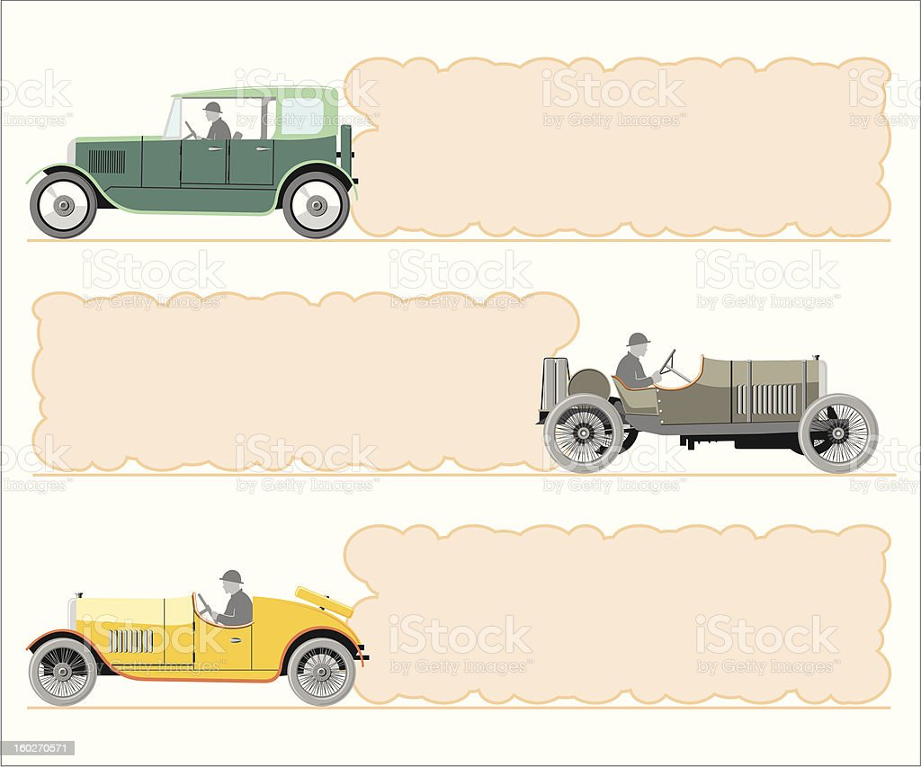 set of vintage cars royalty-free set of vintage cars stock vector art & more images of business