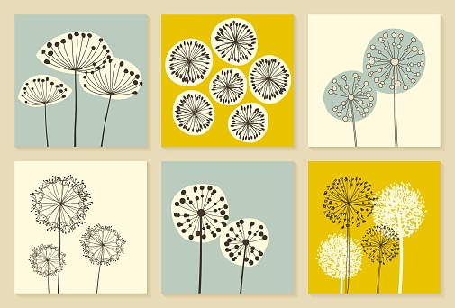 Set of Vintage Dandalions illustrations