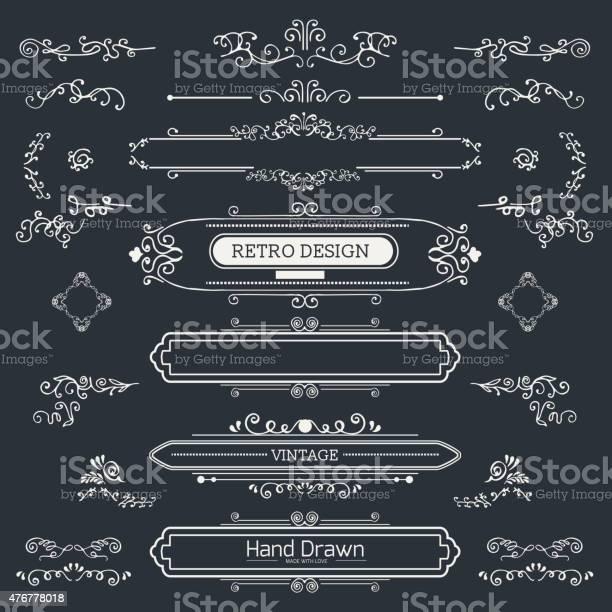 Set of vintage decorations elements vector id476778018?b=1&k=6&m=476778018&s=612x612&h=j71wzq30tknl6kc b exd1xidkipk60evyppyubjhqg=