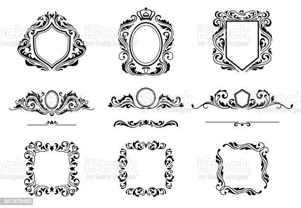 Set of vintage decorations frame elements flourishes calligraphic vector id941829460?b=1&k=6&m=941829460&s=612x612&h=a6yooeabrqqkq2cxx0awz3xg9bahqnveeqakgvydurw=
