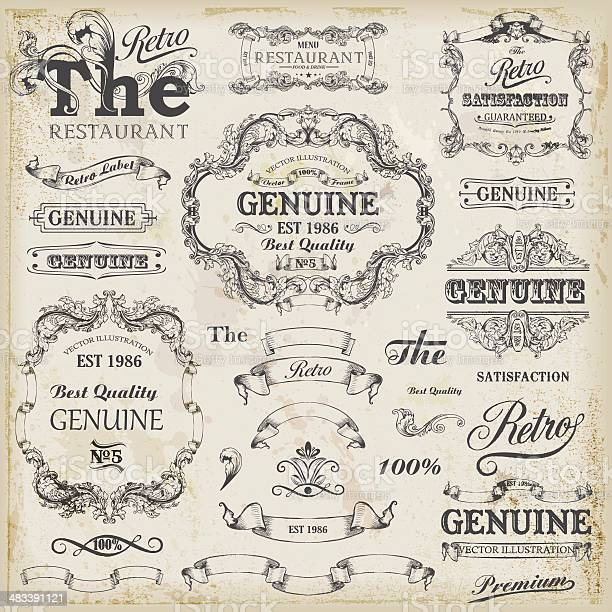 Set of vintage design elements with text placements vector id483391121?b=1&k=6&m=483391121&s=612x612&h=yjz8at5bphahoko otkoohcjbc2rb2h zdsuvcb c4w=