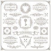 Set of vintage flourishes and ornamental design elements
