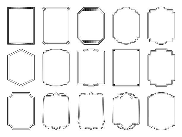 ヴィンテージフレームのセット - ロココ調点のイラスト素材/クリップアート素材/マンガ素材/アイコン素材
