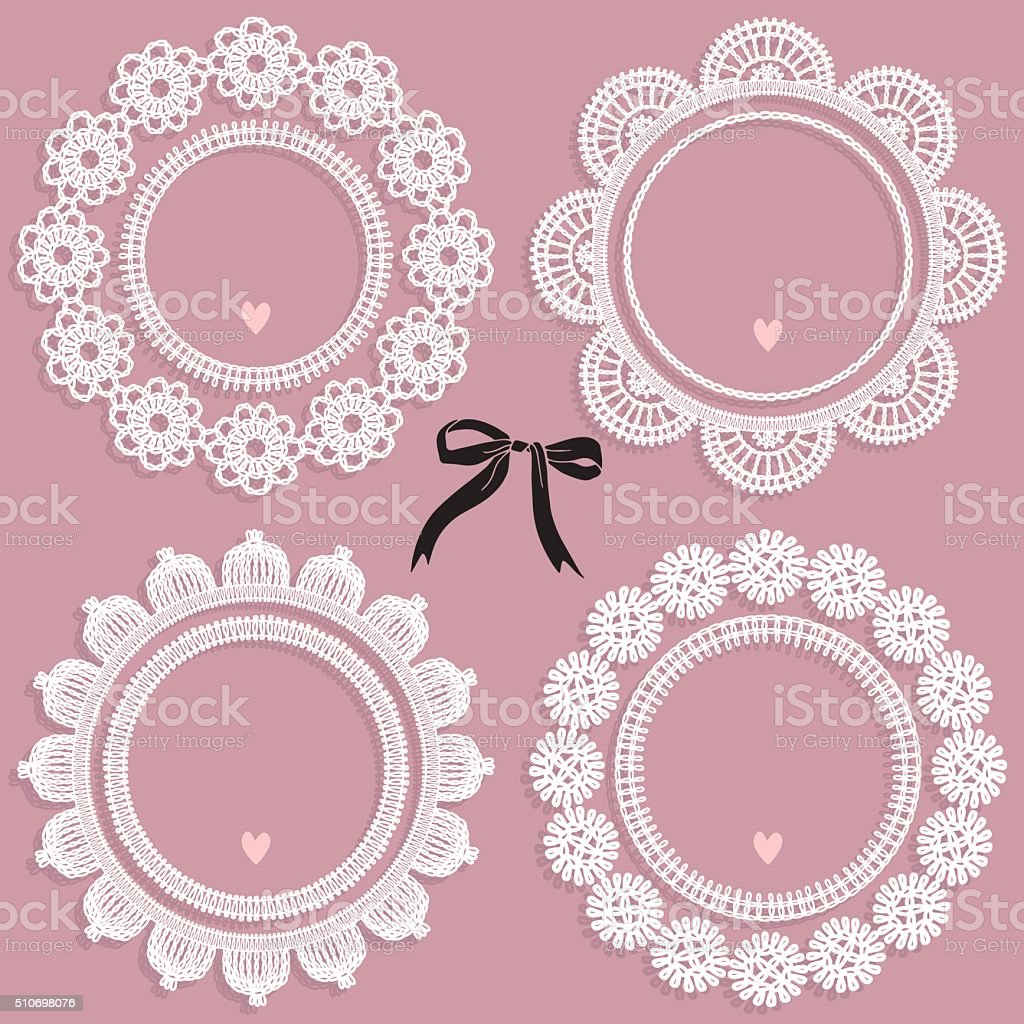 Set of vintage frames vector art illustration