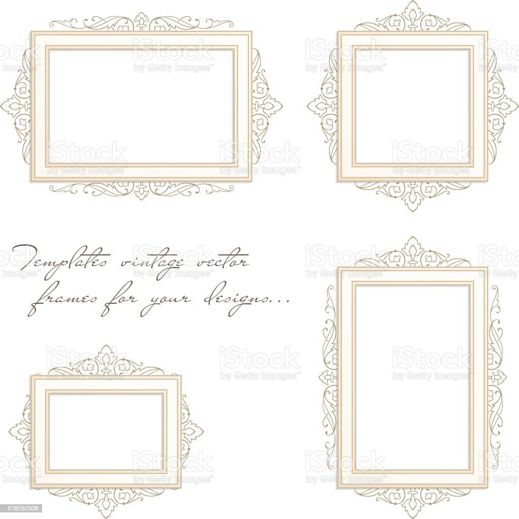 Satz Von Vintage Rahmen Vektor Illustration 578292308 | iStock