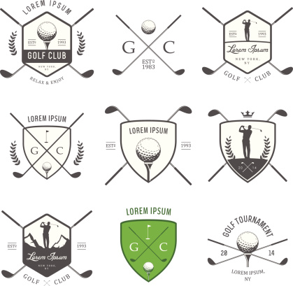 ゴルフのヴィンテージラベルバッジおよび Emblems - アイコンのベクターアート素材や画像を多数ご用意