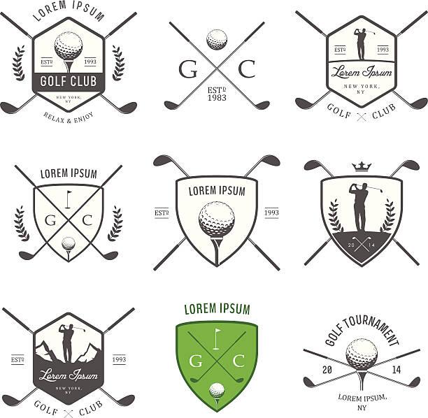 ゴルフのヴィンテージラベル、バッジおよび emblems - ゴルフ点のイラスト素材/クリップアート素材/マンガ素材/アイコン素材