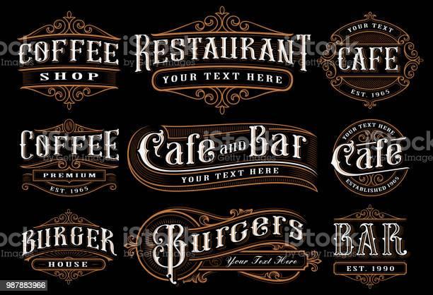 Set of vintage lettering illustration for the catering vector id987883966?b=1&k=6&m=987883966&s=612x612&h=eohq5am2jnw bcbovvjj1oyxnadzehtbn8o8pckkmrm=