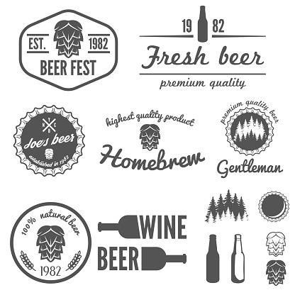 Set of vintage logo, badge, emblem or logotype elements for
